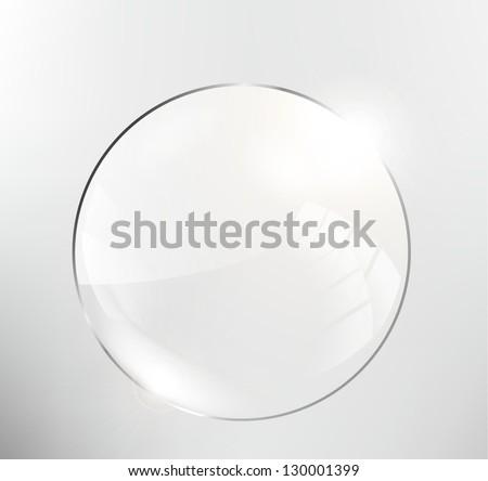 Glass circle - stock vector