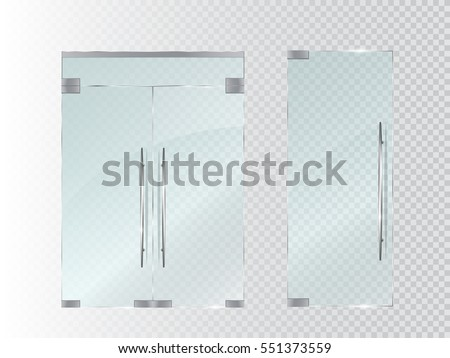 glass doors isolated on transparent background vector