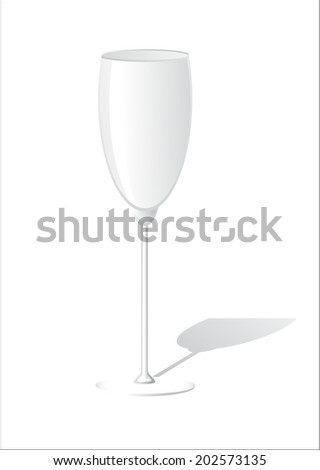 Glass empty on white background - stock vector