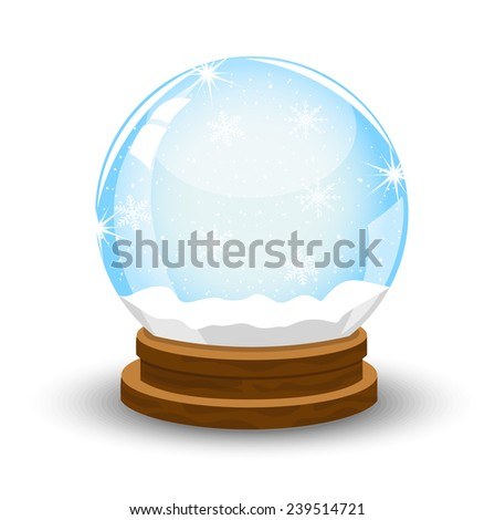 glass festive ball,vector illustration