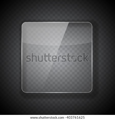 Glass Frame on Abstract Transparent Background. Vector Illustration. EPS10 - stock vector