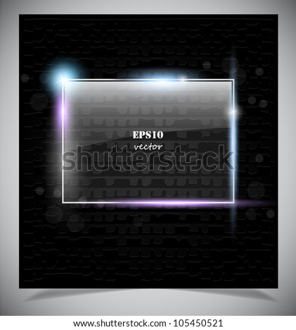 Glass frame. Vector illustration eps10. Abstract background - stock vector