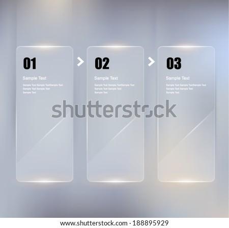 Glass framework design set. Vector illustration - stock vector