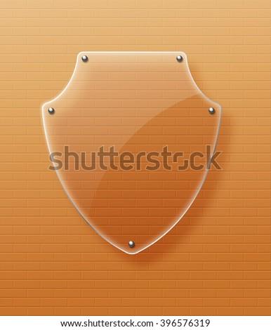 Glass framework Glass shield Vector illustration. Eps10 - stock vector