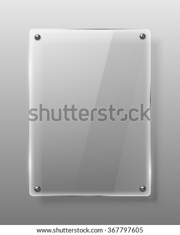 Glass framework. Vector illustration. - stock vector