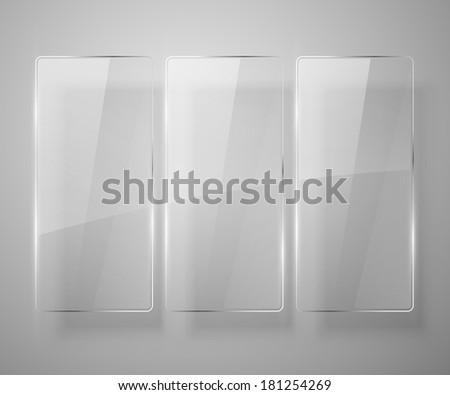 Glass framework. Vector illustration. Eps 10 - stock vector