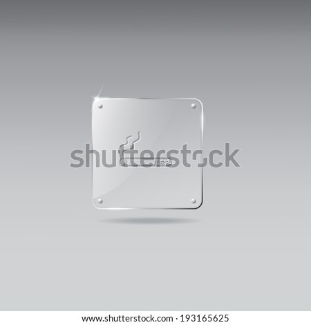 Glass framework with cigarette icon - stock vector