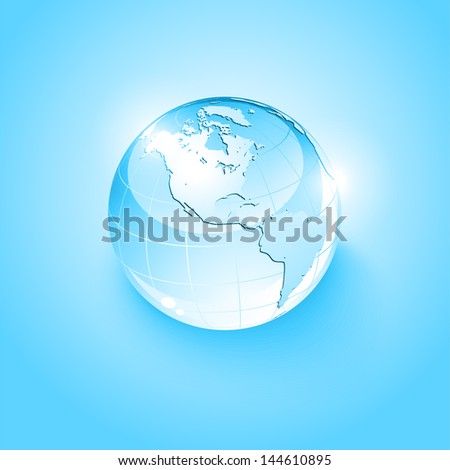 Glass globe icon - stock vector