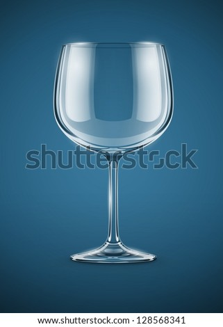 glass goblet for wine vector illustration EPS10. Transparent objects used for shadows and lights drawing. Vector Illustration.