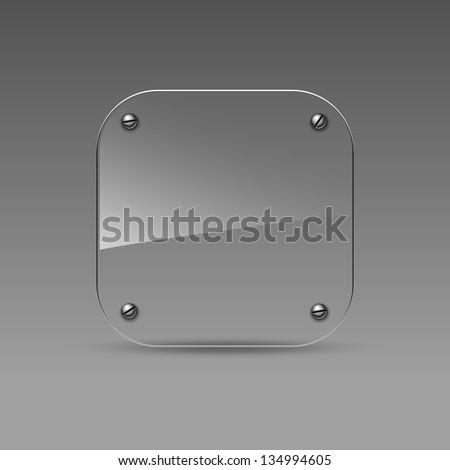 Glass icon. Vector eps10 - stock vector