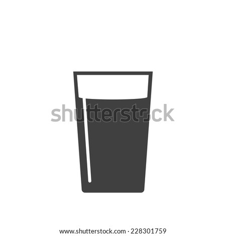 glass of water icon - stock vector