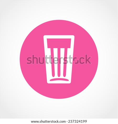 Glass of water Icon Isolated on White Background - stock vector