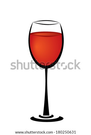 glass of wine - stock vector