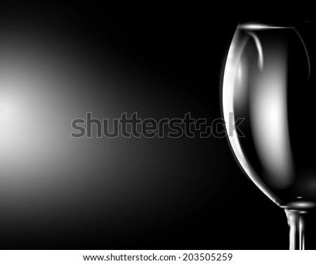 Glass of wine on dark. Vector eps 10 - stock vector