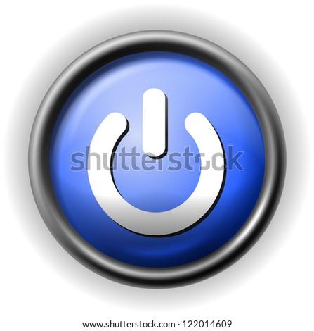 Glass power icon - stock vector