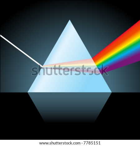 Glass Prism - stock vector