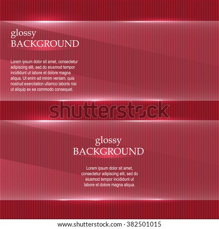GLASS RED BACKGROUND.Glass banners.VECTOR. EPS 10.  - stock vector