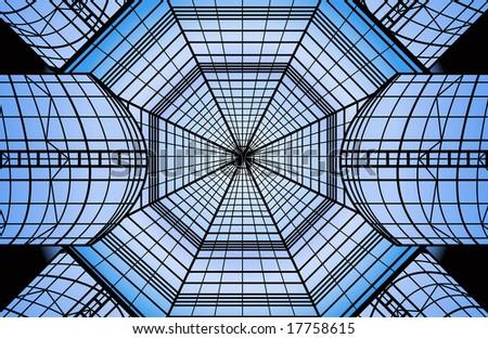 glass roof vector - stock vector