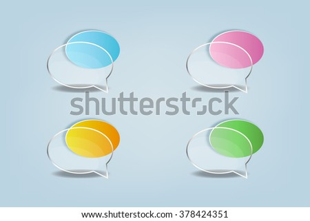 Glass speech bubbles. Vector illustration