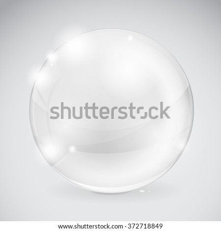 Glass sphere. Shiny ball. Vector illustration