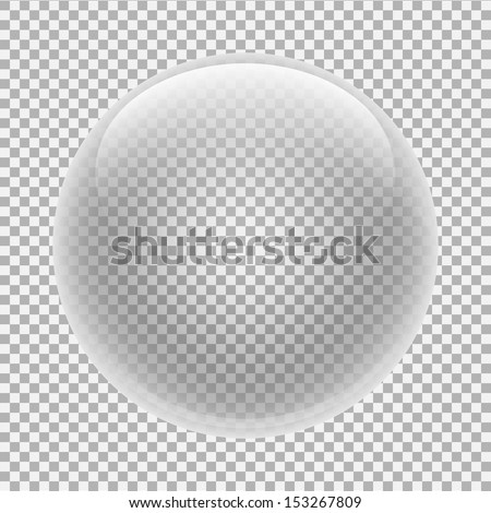 glass sphere with transparency - stock vector