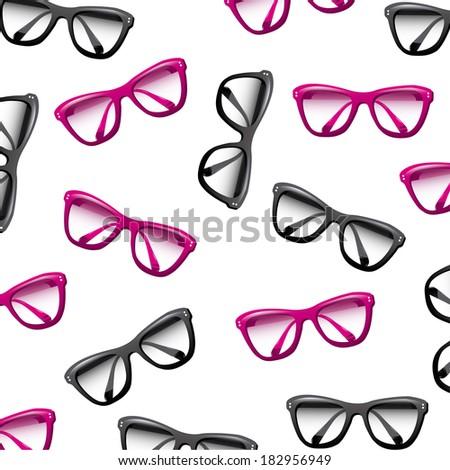 Glasses design over white background, vector illustration - stock vector
