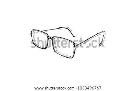 Glasses Drawing By Hand Optics Eyes Stock Vector HD (Royalty Free ...