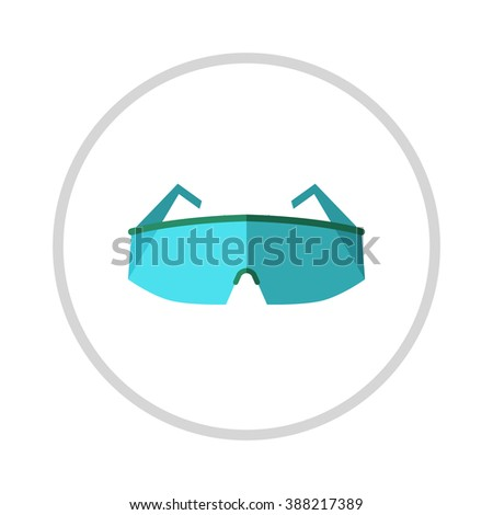 Glasses, eye protection illustration isolated on white background. Glasses . Retro, aviator frames Eyeglasses tools isolated. Glasses optical lens. Eye protection . - stock vector