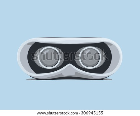 Glasses for virtual reality. Vector illustration. - stock vector