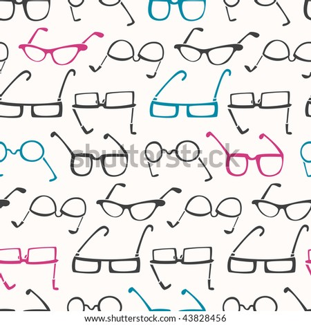 Glasses Galore Pattern - stock vector