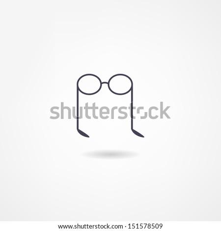 glasses icon - stock vector