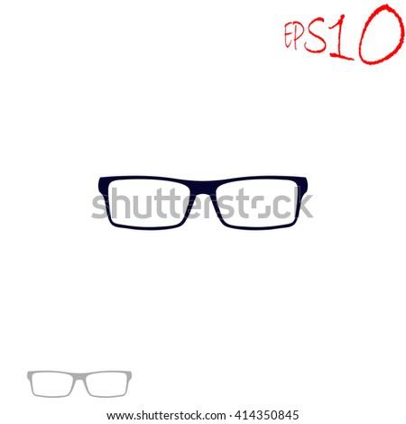 Glasses icon. Glasses vector. Glasses illustration. Glasses icon logo. Glasses icon Eps10. Glasses icon web. Glasses icon sign. Glasses icon art. Glasses icon image. Glasses icon UI. - stock vector