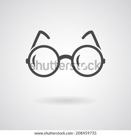 Glasses icon. Vector illustration - stock vector
