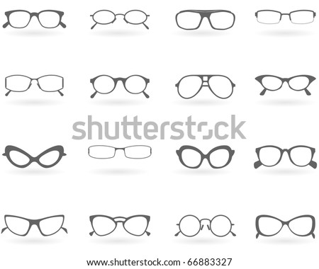 Glasses in different styles - stock vector