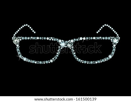 Glasses made of shiny gems - stock vector