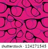 glasses Seamless pattern retro sunglasses. vector background - stock vector