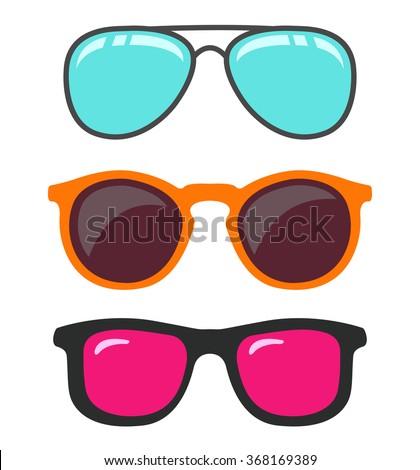 Glasses set.Vector - stock vector