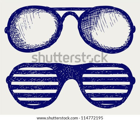 Glasses silhouettes - stock vector