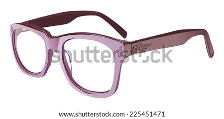 glasses tattooed  - stock vector