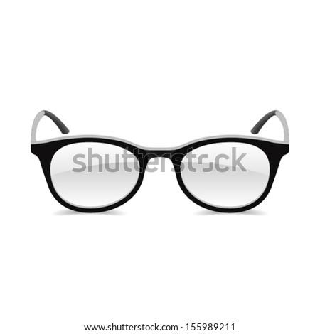 Glasses. Vector. - stock vector