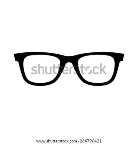 Glasses Vector Icon - stock vector
