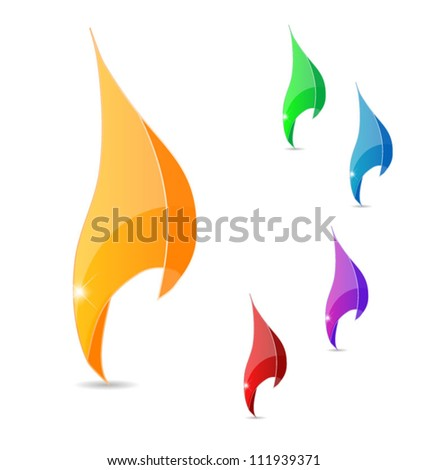 Glassy swirl pointers, eps10 vector - stock vector