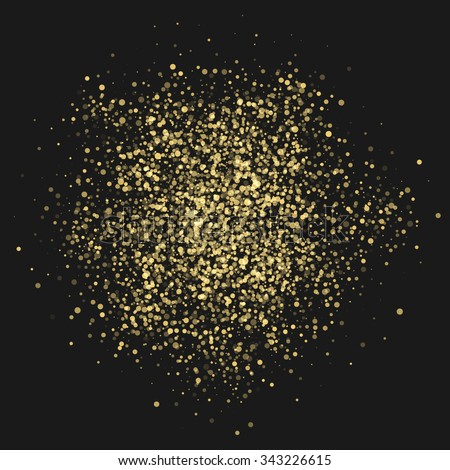 Glitter Texture Background. Explosion of Confetti Circles. Design element. Vector illustration. - stock vector
