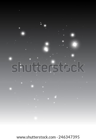 Glittering abstract vector background template - Vector sparkles falling on silver background illustration - stock vector