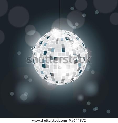Glittering disco ball - stock vector