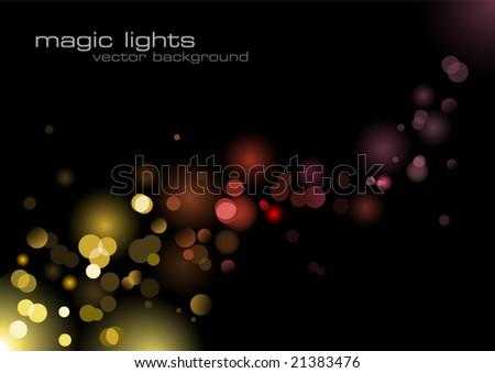 glittering lights background - stock vector