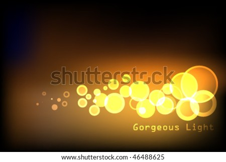 Glittering lights background - Vector - stock vector