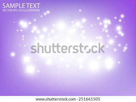 Glittering purple space vector abstract background illustration  - Vector abstract purple    sparkles template background - stock vector