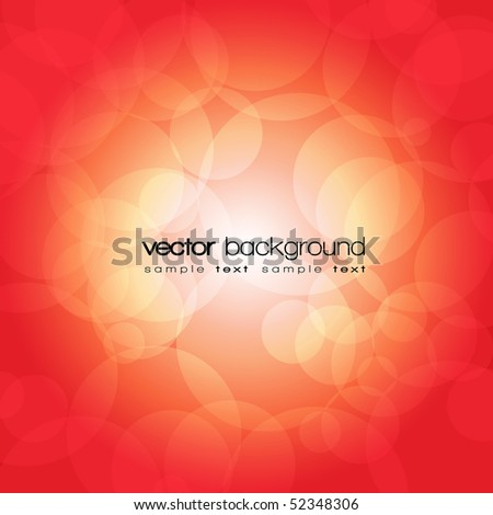 Glittering red lights background with text - vector illustration - stock vector