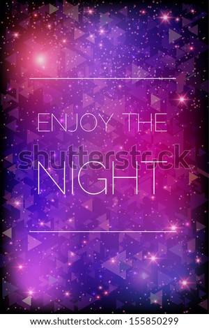 Glittering stars on purple background. Vecor illustration eps 10 - stock vector